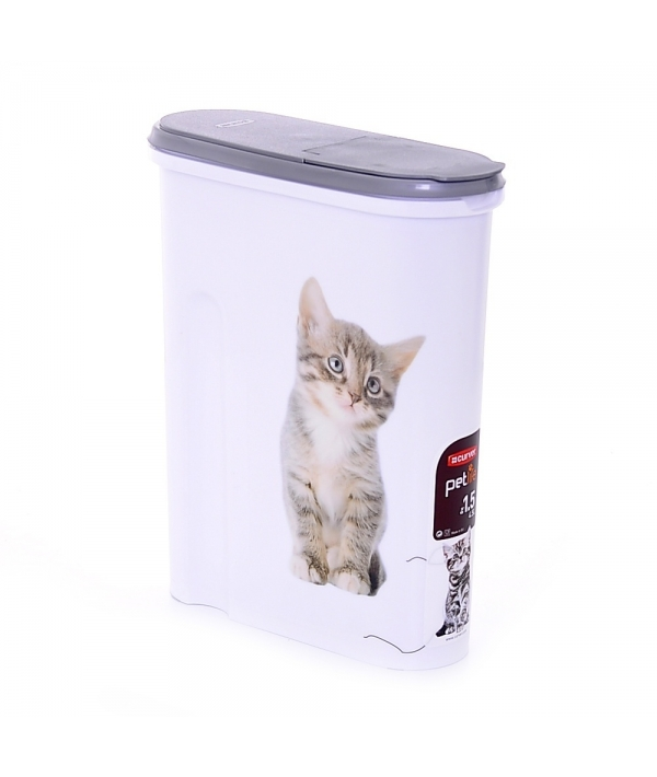 """Контейнер для корма """"Кошка"""" на 1,5кг/4,5л, 25*10*30см (182007)"""
