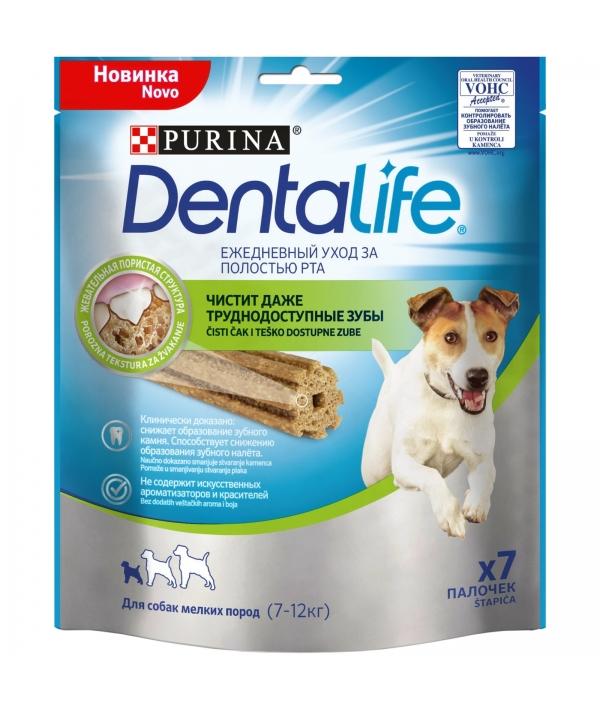 Лакомство для собак малых пород Здоровые зубы и десна DENTALIFE Small 12365699