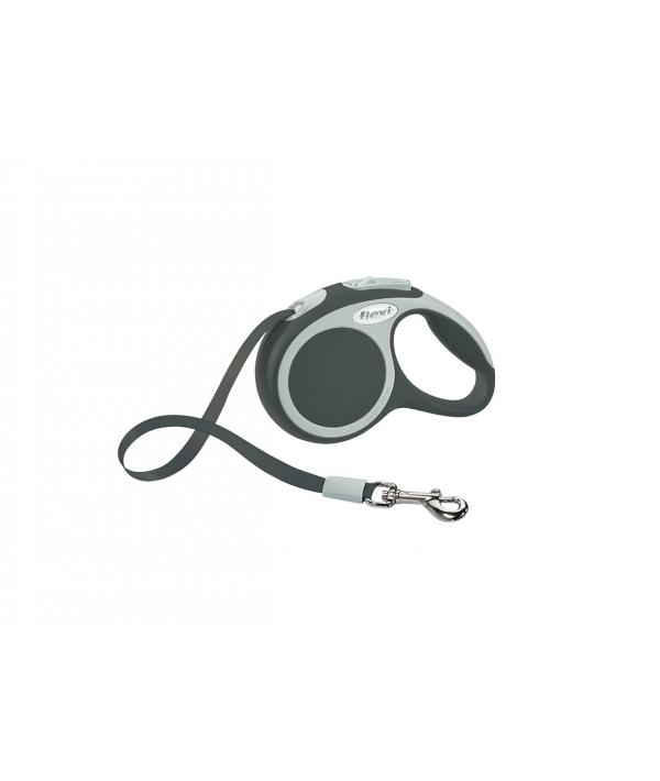 Рулетка – ремень для собак до 12кг, 3м, серая (Vario XS tape 3m anthracite)