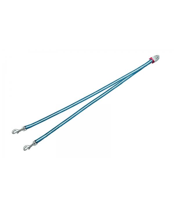 Ремень – сворка для двух маленьких собак, голубая (Vario Duo Belt S blue)