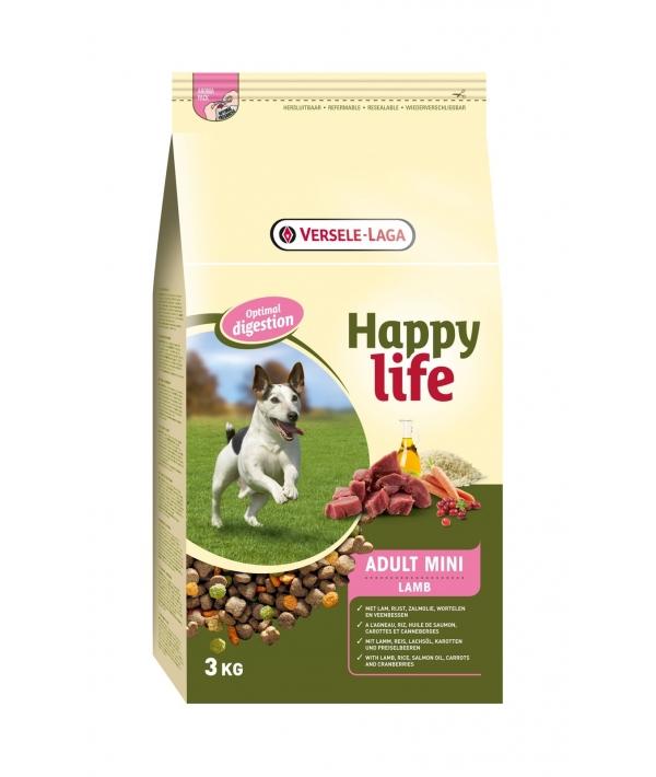 Для собак малых пород с ягненком (Happy life Adult Mini Lamb) 431041