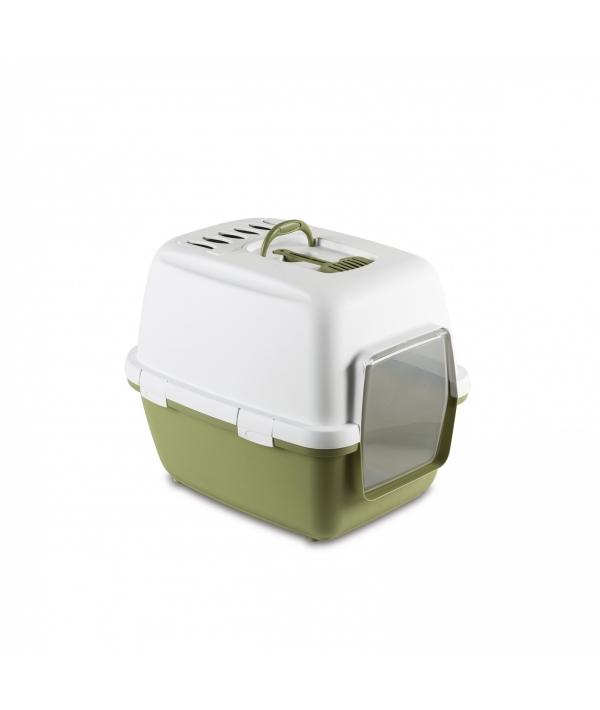 Туалет – домик Cathy Comfort с уголным фильтром и совочком, зеленый, 58х45х48см (97595)
