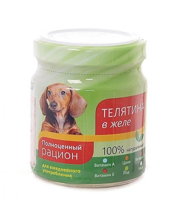 Консервы для собак телятина в желе (004364)