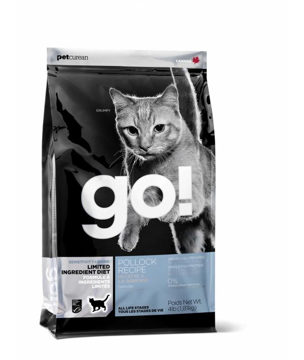 Беззерновой для котят и кошек с чувств. пищеварением с треской (Sensitivity + Shine Grain Free Pollock Cat Recipe) 31/15