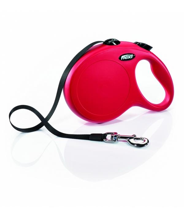 Рулетка – ремень для собак до 12кг, 3м, красная (New Classic XS tape 3m red)