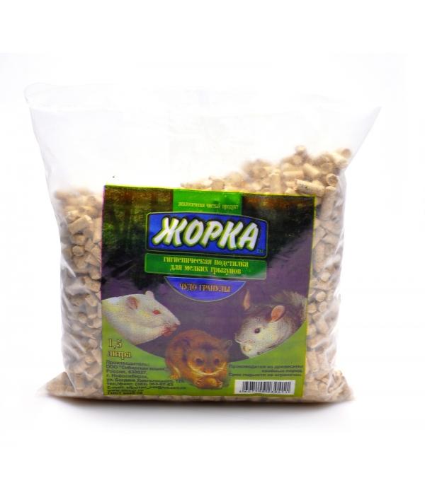 """Древесный наполнитель """"Чудо гранулы"""" для мелких грызунов (6мм), 1,5л"""