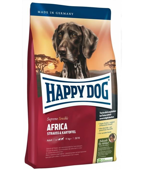 Африка: беззерновой корм для собак с мясом страуса (Africa)