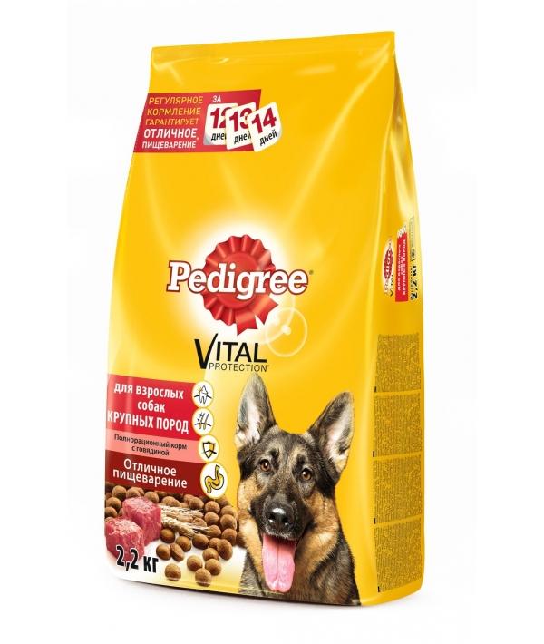 Сухой корм для собак крупных пород с говядиной 10113864