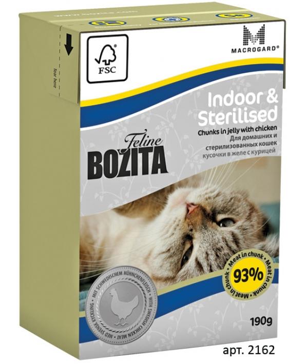 Кусочки в желе для Домашних и стерилиз.кошек с курицей (Indoor&Sterilised)