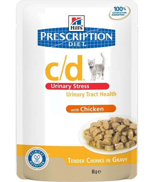 Паучи Feline c/d профилактика мочекаменной болезни при стрессе с курицей 2862U