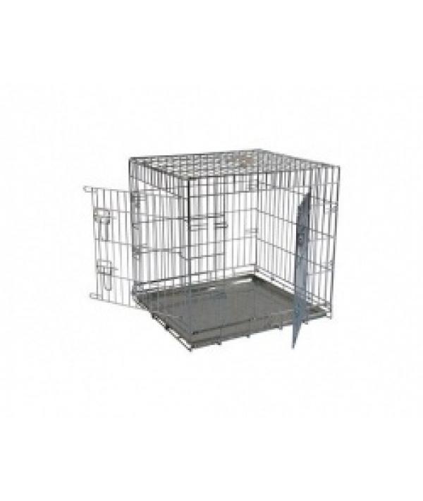 Клетка металлическая с 2 дверками, 76*54*61см облегченная (Wire cage 2 doors) 150276L