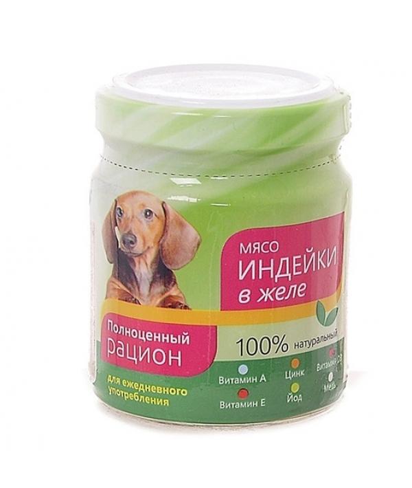 Консервы для собак мясо индейки в желе (004388)