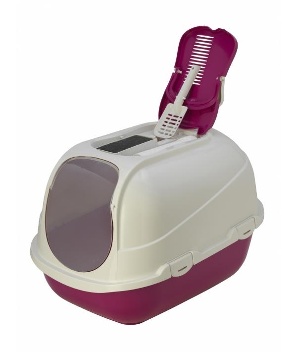 Туалет – домик Mega Comfy с совком и угольным фильтром, 65,7x49,3х47, ярко – розовый (mega comfy) MOD – C270 – 328.
