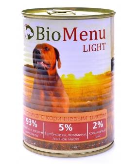 Консервы для собак низкокалорийные с индейкой с коричневым рисом (LIGHT) (74152/29814)