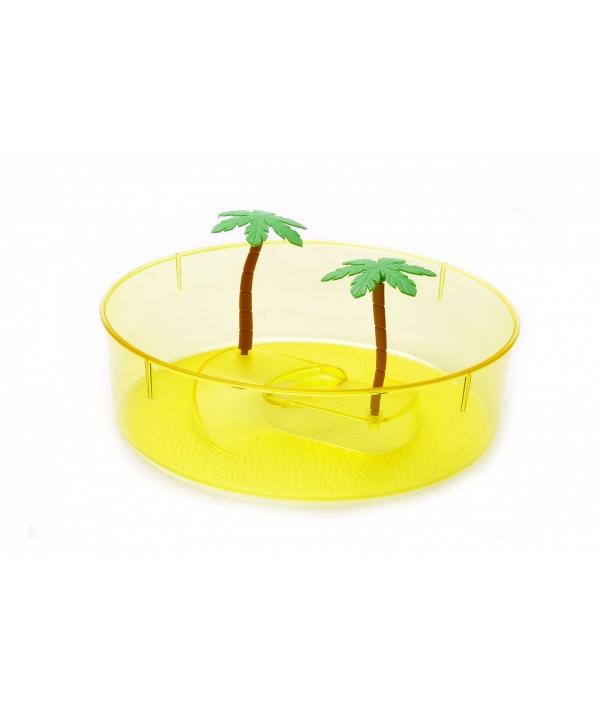 Маленькая круглая ванночка для черепахи 20*20*10 см (Turtle box small round) 445