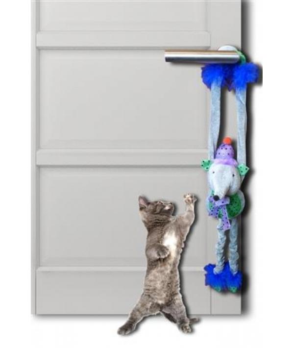 """Игрушка для кошек """"Плюшевая мышка с колокольчиками"""" 45 см (Plush mouse 45 cm with bells and crackle) 240056"""