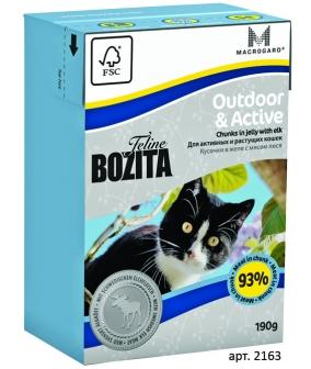 Кусочки в желе для Активных кошек с лосем (Outdoor&Active)