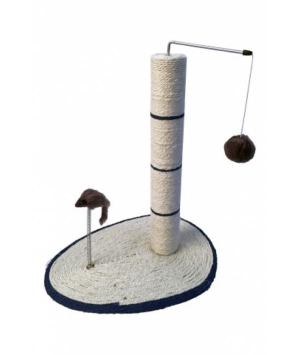 """Когтеточка – столбик """"Италия"""" с мышкой на пружинке 45 см (Scratcher Italy 2) 210154"""