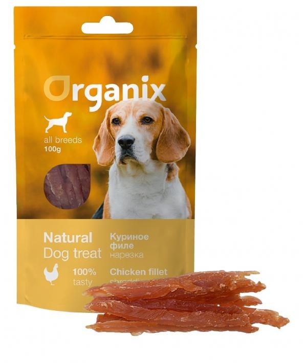 Лакомство для собак «Нарезка из куриного филе» (100% мясо) (Chicken fillet/ shredding)100 гр