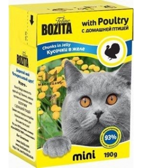 Mini Кусочки в желе для кошек – домашняя птица (Poultry)
