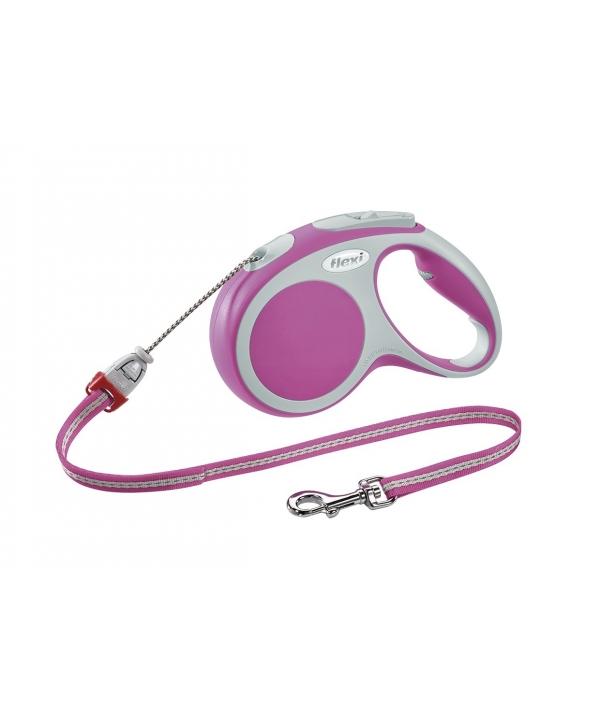Рулетка – трос для собак до 12кг, 5м, розовая (Vario S cord 5m pink)