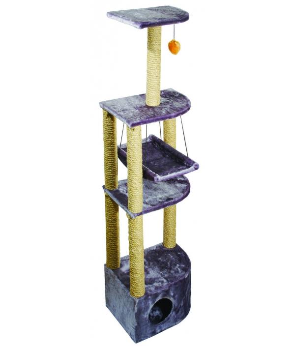 """Домик """"Небоскреб"""" угловой с гамаком и пумпоном, джут, 36*49*1,70м (8204д)"""