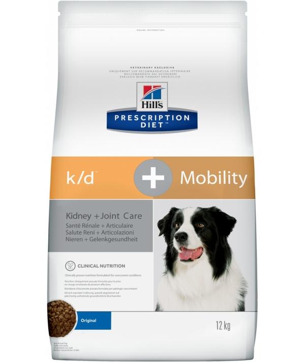 K/D + Mobility для собак лечение почек + поддержка суставов