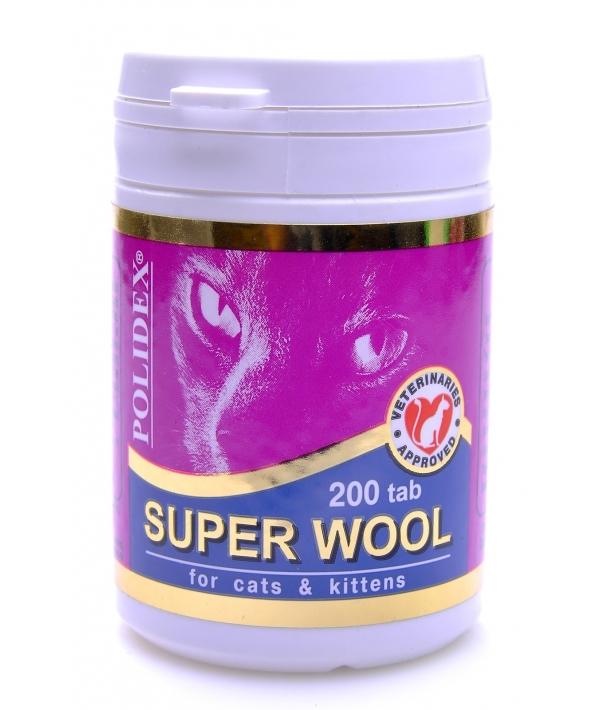 Витамины для кошек улучшают состояние шерсти, кожи, когтей и профилактика дерматитов 200таб (Super Woo) 7840/17533