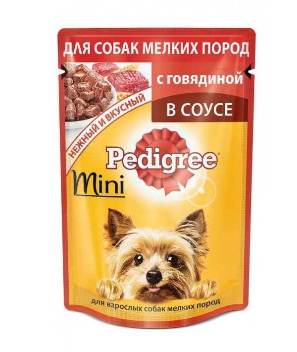 Паучи для собак мелких пород с говядиной в соусе 10163974