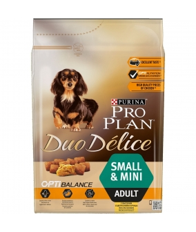 Для собак мелких пород с курицей и рисом (DUO DELICE) – 12250000/12340504