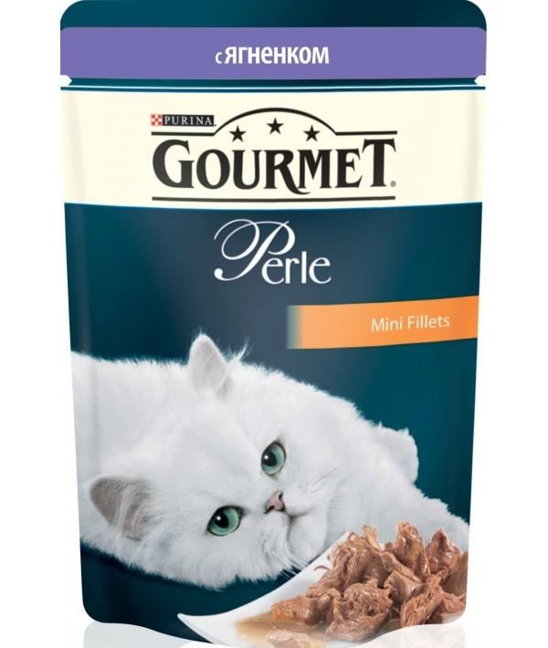 Паучи в подливе с ягненком для кошек (Gourmet Perl) 12215290/12318011