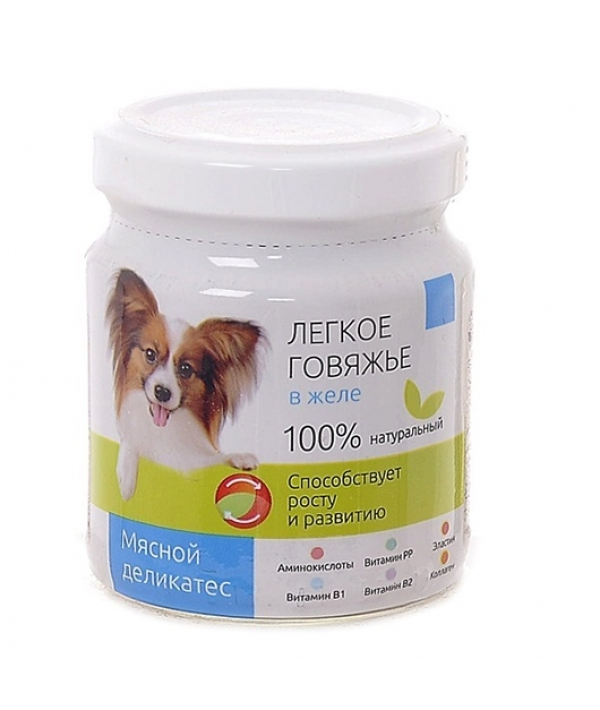 Консервы для собак Легкое говяжье в желе (003718)