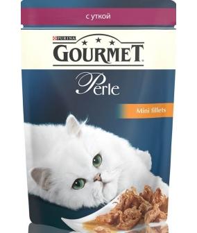 Паучи в подливе с уткой для кошек (Gourmet Perl) 12222486/12318014