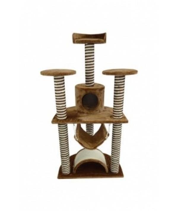 """Когтеточка – домик """"Рим"""" 70*50*138см, коричневая (Scratcher Roma) 210120"""