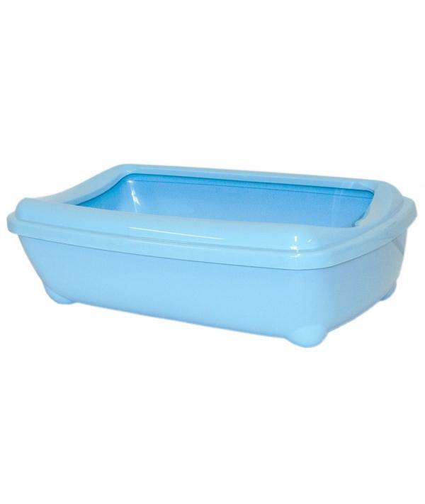 Туалет – лоток большой с рамкой artist large + rim, 57х43х15 jumbo небесно голубой