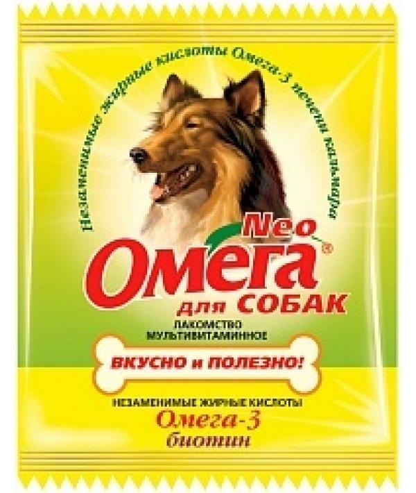 Омега Neo витамины для собак с биотином,15 таб.(саше)