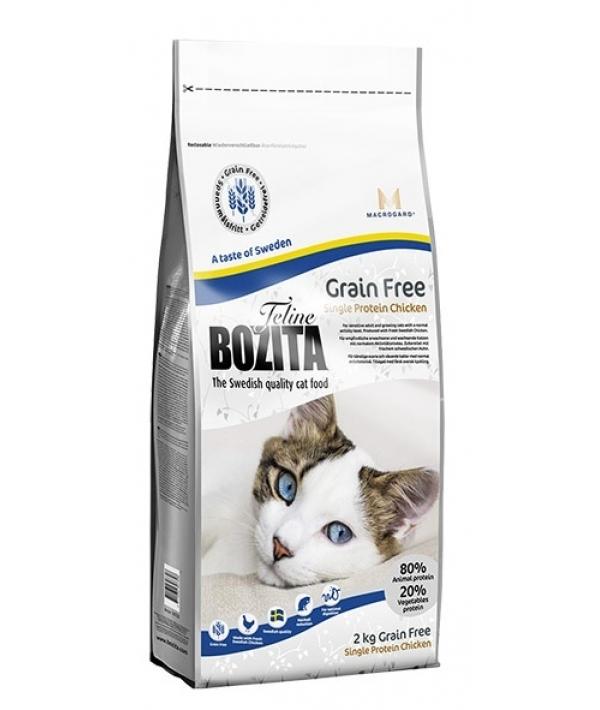 Для взрослых и растущих кошек беззерновой корм с курицей