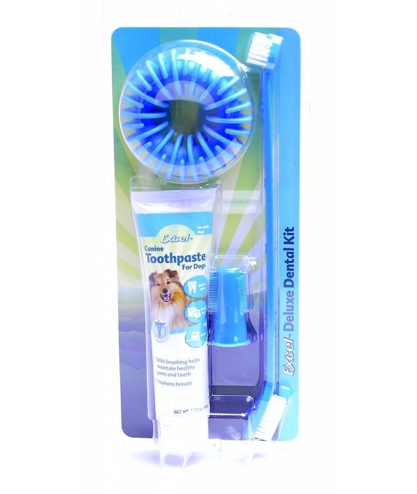 40889 Зубная щетка+напальчник+зубная паста (92г)+жевательное кольцо (Dental Kit)