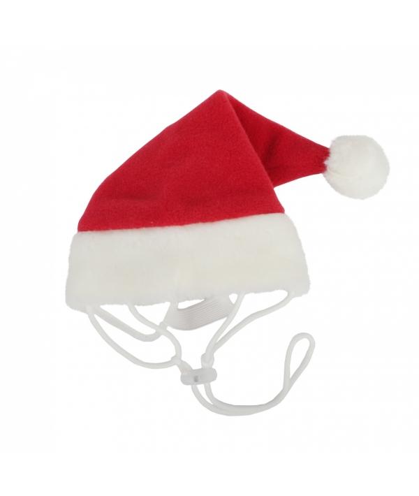 """Колпак """"Санта"""" на резинке, красный с белой отделкой, размер S (обхват головы 21 см) (SANTA HAT/RED/S) PDDF – SH23 – RD – S"""