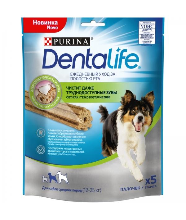 Лакомство для собак средних пород Здоровые зубы и десна DENTALIFE Medium 12365750