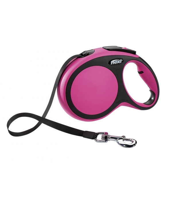 Рулетка – ремень для собак до 15кг, 5м, розовая (New Comfort S Tape 5 m, pink)