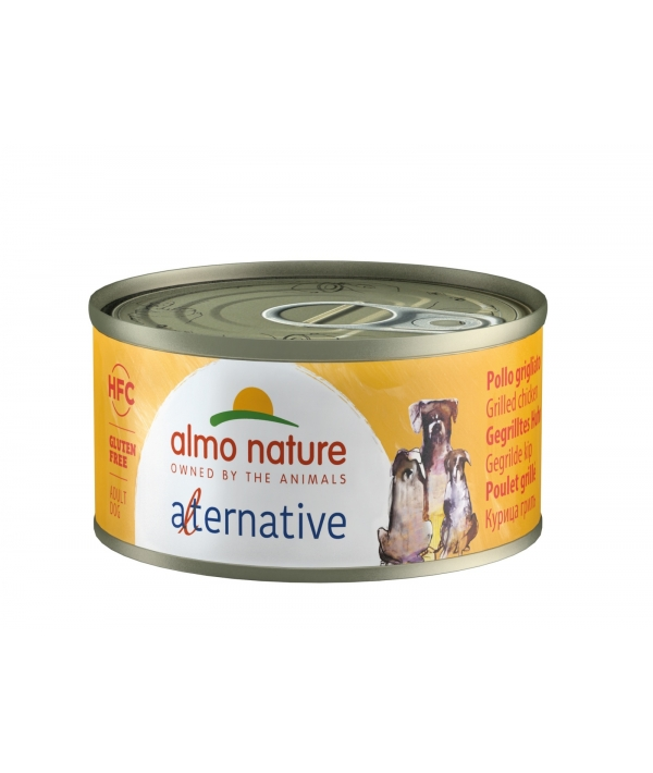 "Консервы для собак ""Курица гриль"", 55% мяса (HFC ALMO NATURE ALTERNATIVE DOGS GRILLED CHICKEN) 5461"