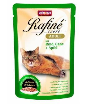 Паучи для кошек коктейль из говядины, мяса гуся и яблок (Rafiné Soupé Adult) 001/83483