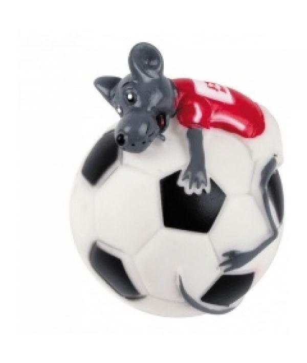 """Игрушка """"Страсть к футболу"""" для собак, 10см, винил (5604139)"""