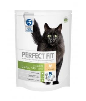 Сухой корм для кошек старше 7 лет, с курицей (PERFECT FIT Senior_7+ Ck 10*650g) 10162216