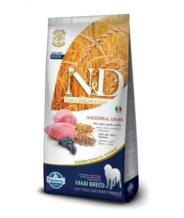 N&D LG Сухой корм для собак крупных пород с ягненком и черникой 4021