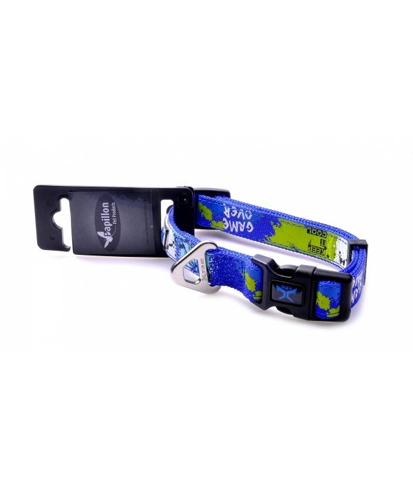 "Нейлоновый ошейник ""Рок – н – ролл"" 15мм – 30 – 40см, синий (Adjustable nylon collar, 15 mm x 30 – 40 cm, X – TRM Rock – N – Roll, colour blue) 170266"
