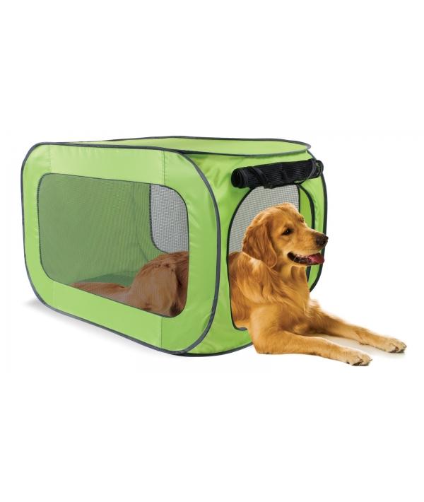 Переносной домик для собак крупных пород 55,9*55,9*91,4 см, полиэстер (Portable dog kennel large) PL0015