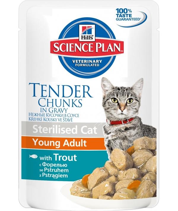 Паучи для кастрированных котов и кошек с форелью (3767L)