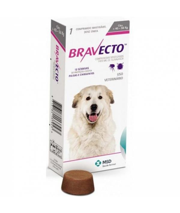 Бравекто жевательная таблетка от блох и клещей для собак 40 – 56кг 1400мг (40282)
